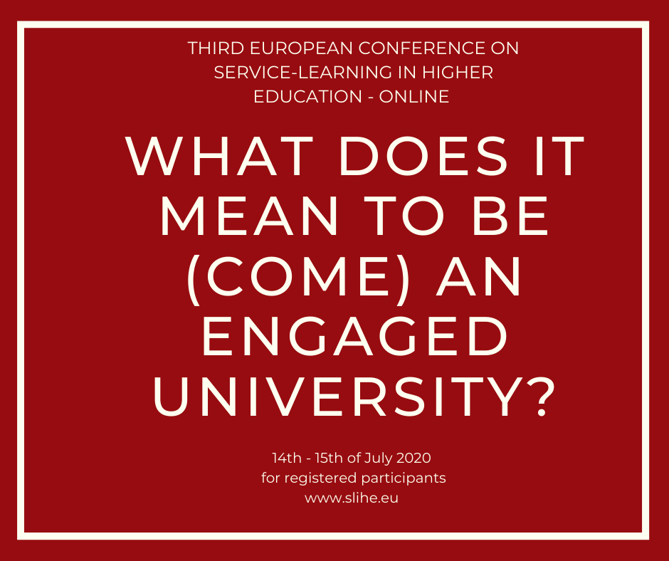 Pozvánka na konferenciu What does it mean to be(come) engaged university